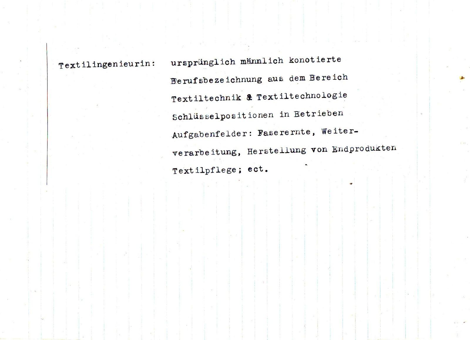 DIE GESCHICHTE EINER TEXTILINGENIEURIN – Judith Auer